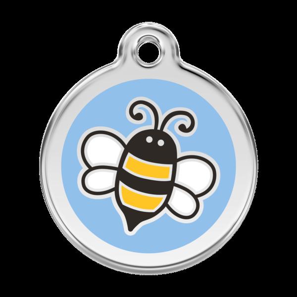 Méhecskés kutyabiléta - világoskék