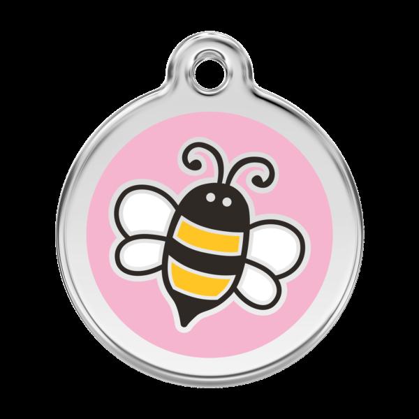 Méhecskés kutyabiléta - rózsaszín